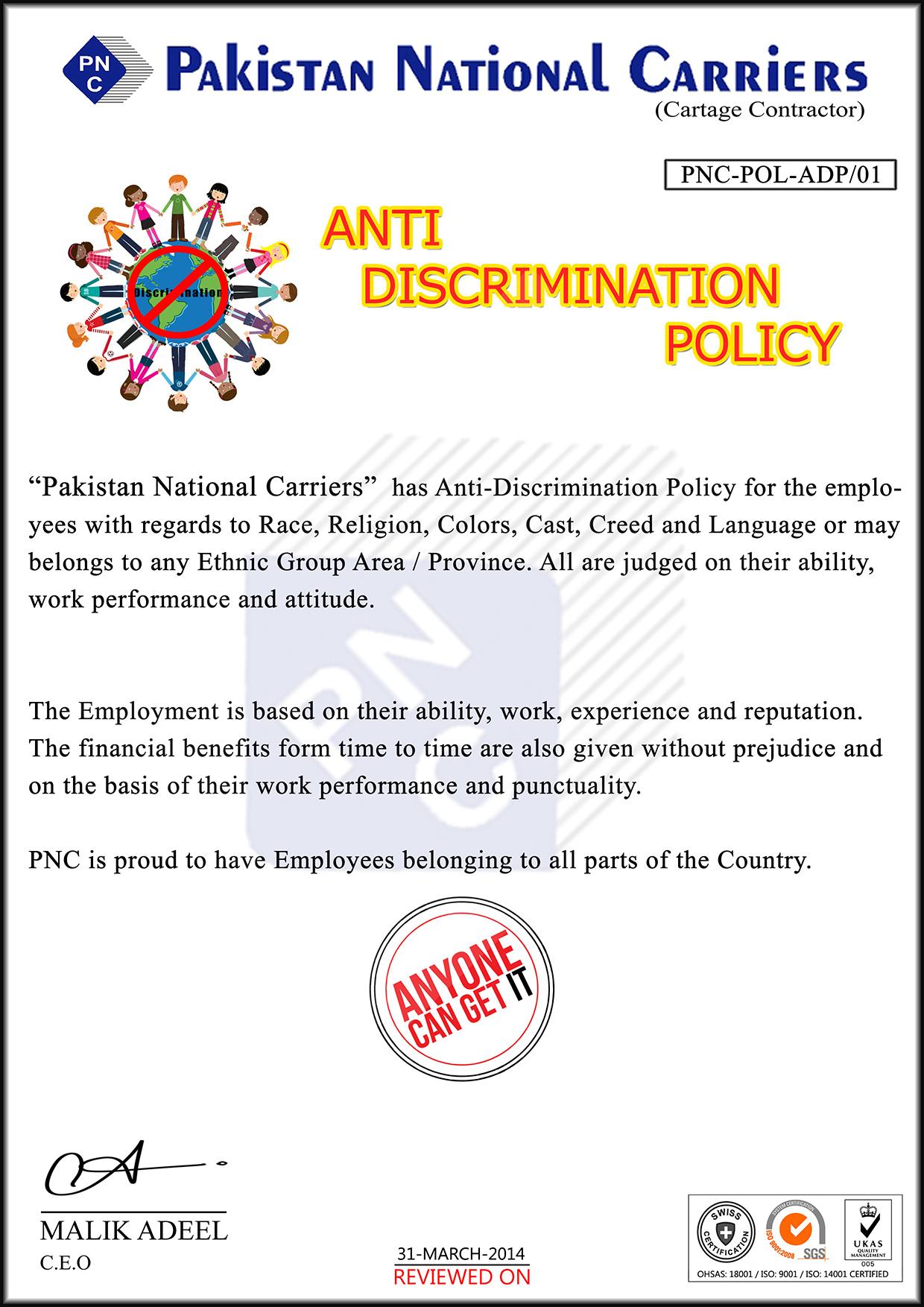 Anti-Discrimination-POLICY