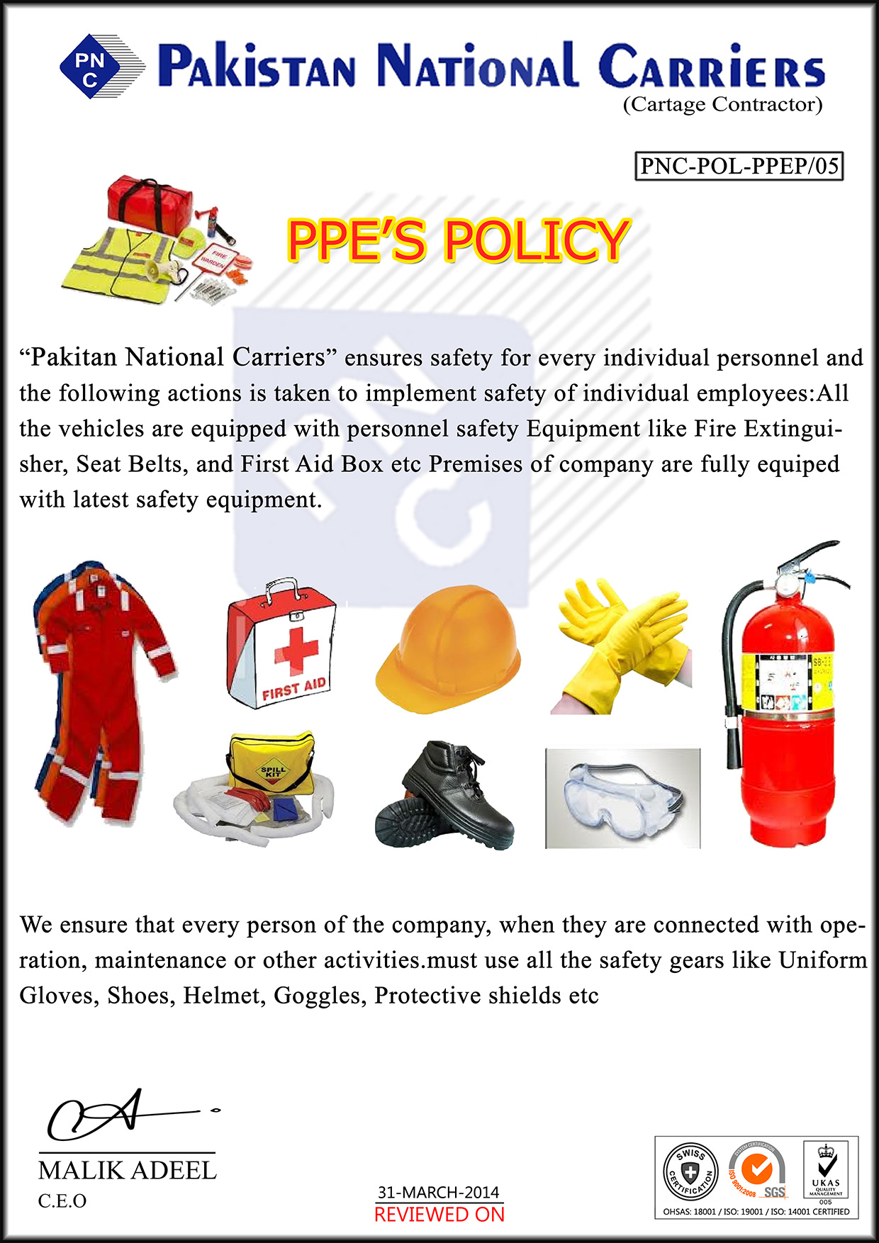 PPE-POLICY