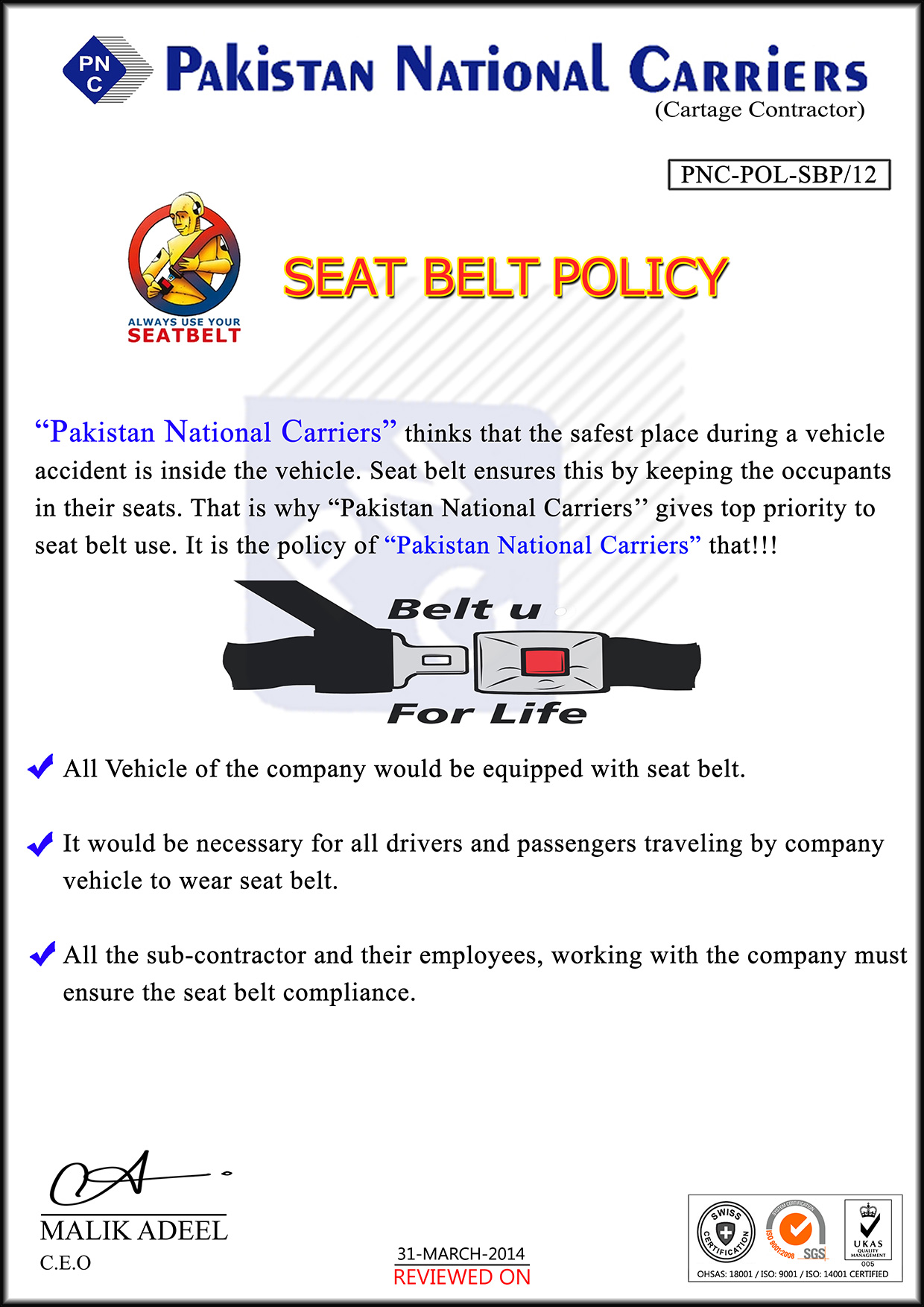 Seat-Belt-POLICY