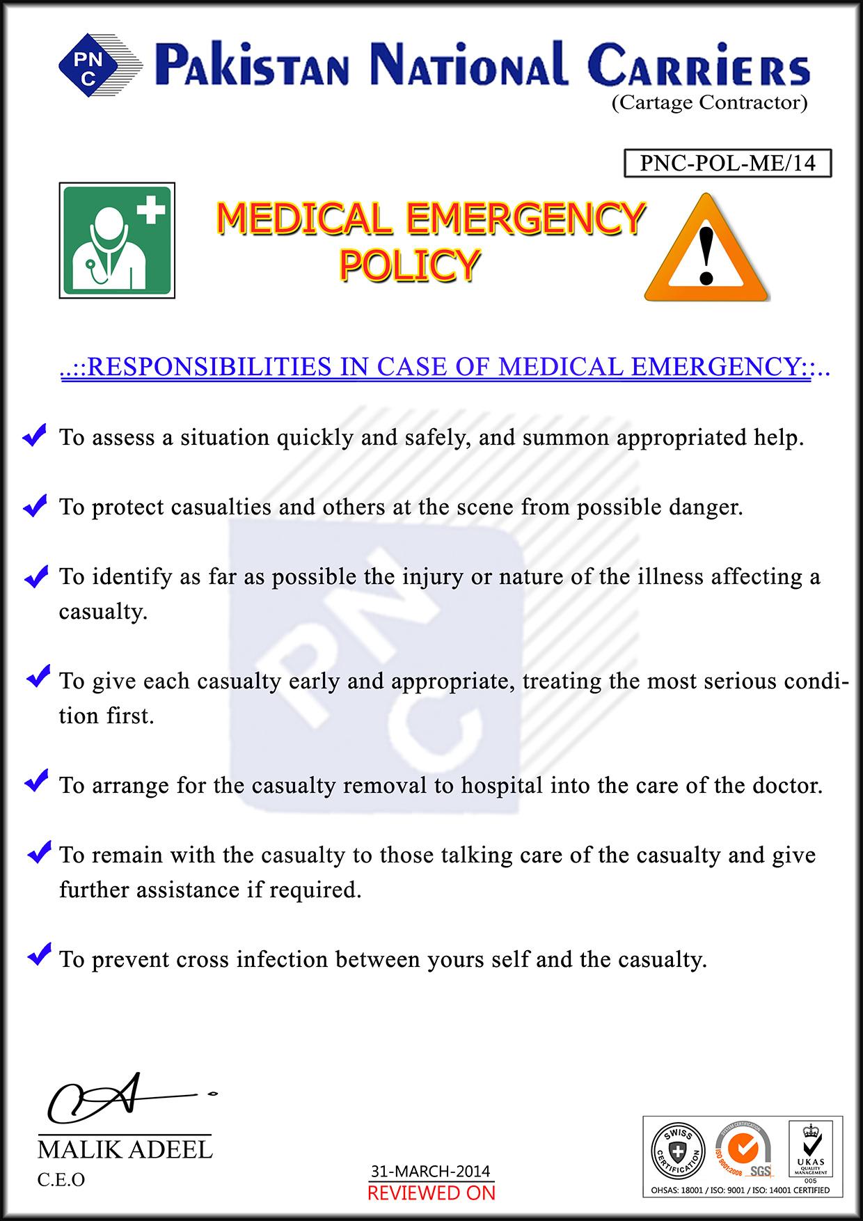 Medical-Emergency-POLICY