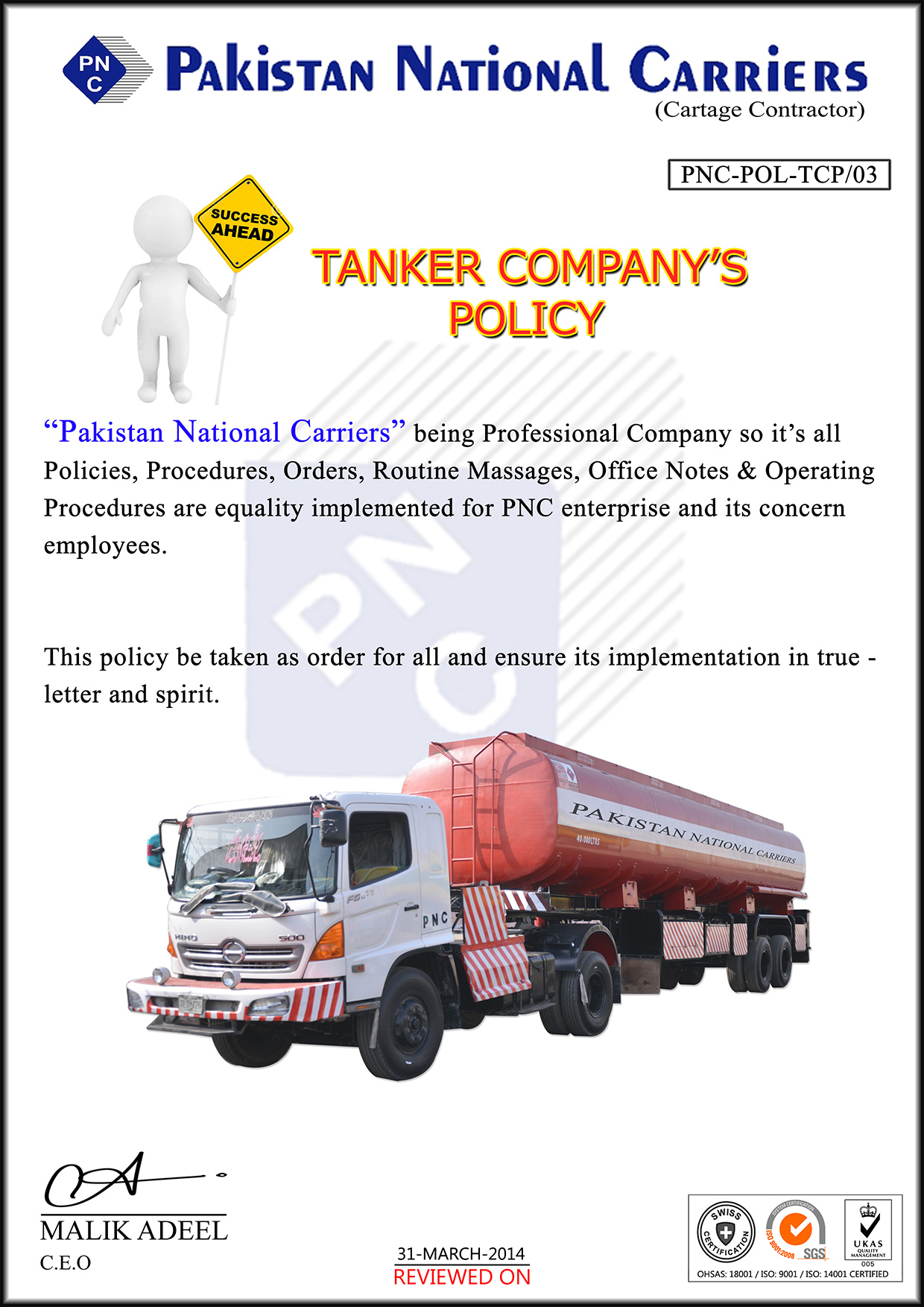 Tanker-POLICY